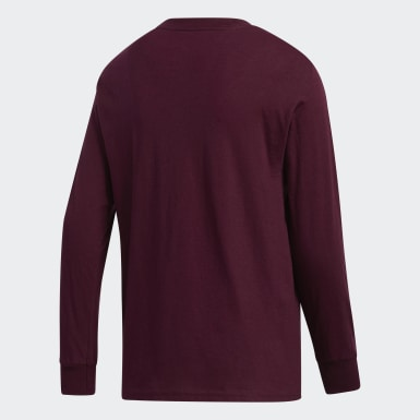 Youth Training Burgundy Y LS AMPLIFIER TEE -TEAM