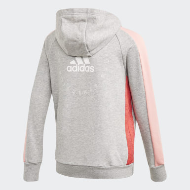 Mädchen Athletics adidas Athletics Club Kapuzenjacke Grau