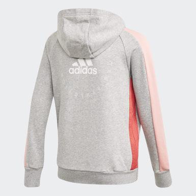 Chaqueta con capucha adidas Athletics Club Gris Niña Athletics