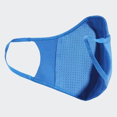 Tapabocas de tela adidas TALLA XS/S (PACK DE 3) (UNISEX) Azul Niño Training