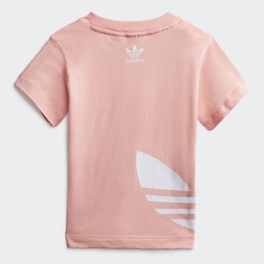 Kids Originals Pink Big Trefoil Tee