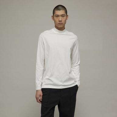 T-shirt Y-3 Classic Mock Neck Blanc Hommes Y-3