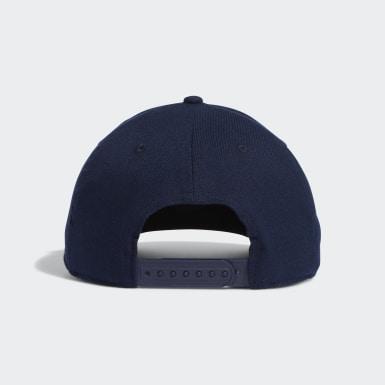 Men Golf Blue Three Stripe Brand Cap