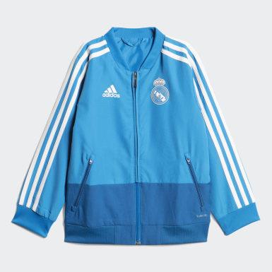 Kinder Fußball Real Madrid Präsentationsanzug Blau
