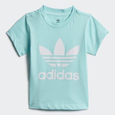 เด็ก Originals สีน้ำเงิน เสื้อยืด Trefoil