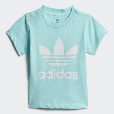 Kinder Originals Trefoil T-Shirt Blau