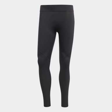 Men Training Black Alphaskin Tech Long Tights