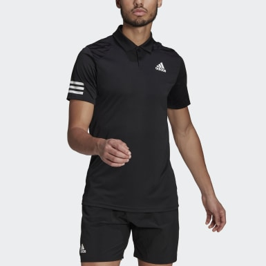 Men Tennis Black Tennis Club 3-Stripes Polo Shirt