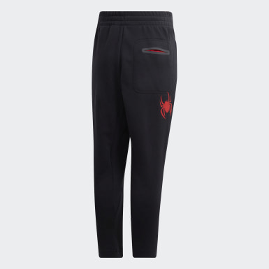 Children Training Black Marvel Spider-Man Pants
