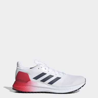 Men Running White Solarblaze Shoes