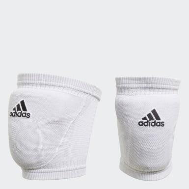 Volleyball Hvid Primeknit Volleyball knæbeskyttere