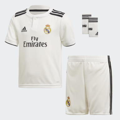 Kids Football White Real Madrid Home Mini Kit