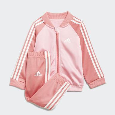 Kinderen Athletics Roze 3-Stripes Tricot Trainingspak