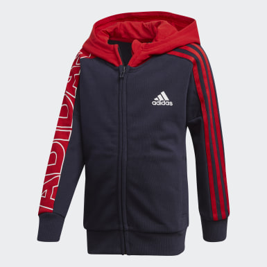 Kids Training Blue Branded Knit Jacket