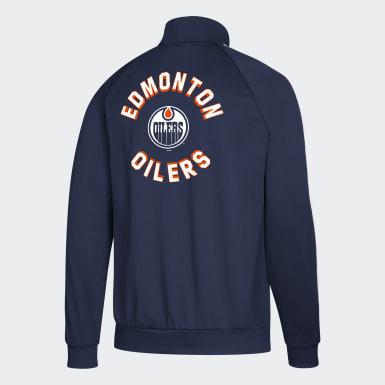 Veste de survêtement Oilers Essentials 3-Stripes multicolore Hommes Hockey