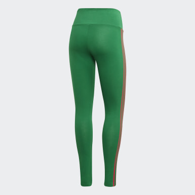 Women Originals Green Adicolor 3D Trefoil Leggings
