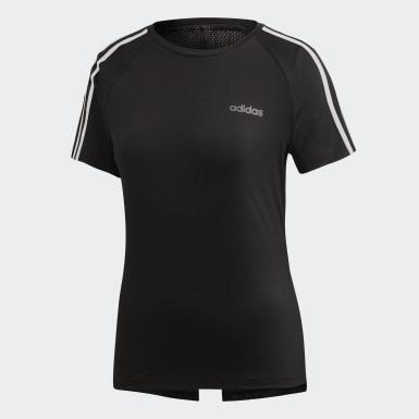 Women Lifestyle Black Design 2 Move 3-Stripes Tee