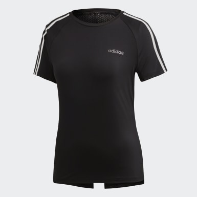 Remera Design 2 Move 3 Tiras Negro Mujer Training