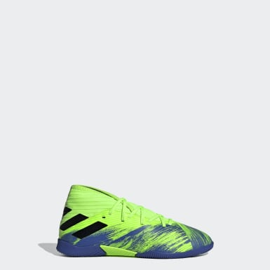 Kids Football Green Nemeziz 19.3 Indoor Boots