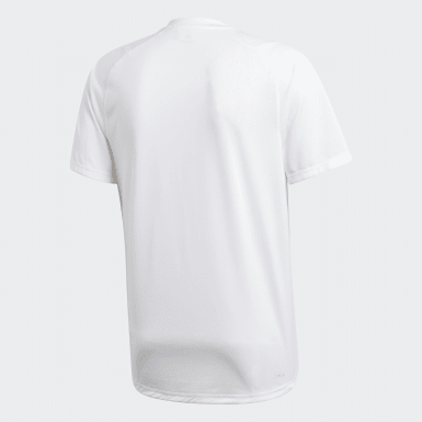 Men Running White FreeLift Badge of Sport Graphic Tee