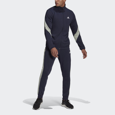 Tuta adidas Sportswear Cotton Blu Uomo Athletics
