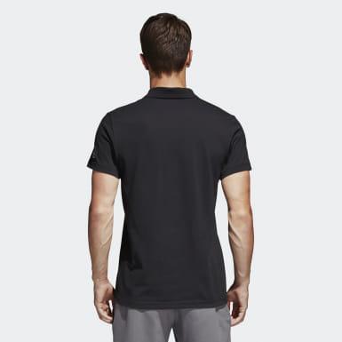 Men Sport Inspired Black Essentials Classics Polo Shirt