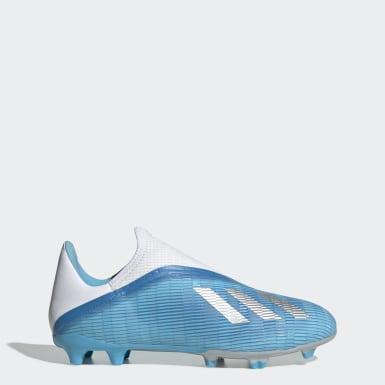 Bota de fútbol X 19.3 césped natural seco Turquesa Mujer Fútbol