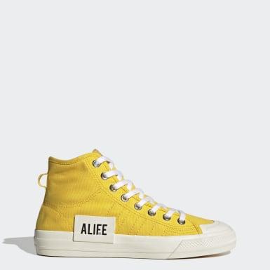 Sapatos Nizza Hi Alife Amarelo Originals