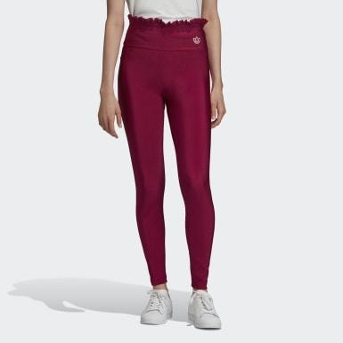 Frauen Originals Leggings Weinrot