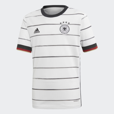Boys Football White Germany Home Jersey