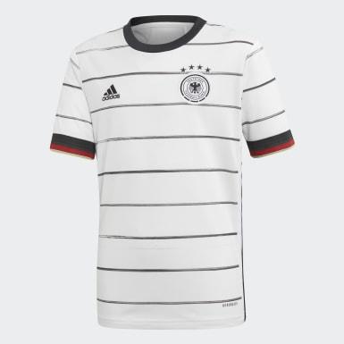Remera primera equipación Alemania Blanco Niño Fútbol