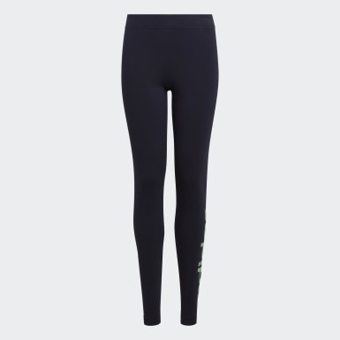 Leggings Linear Essentials Azul Raparigas Athletics