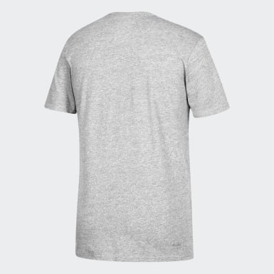 Men's Sport Inspired Grey Badge of Sport Tee