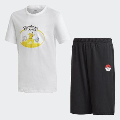 Conjunto de Shorts y Polo Pokémon Blanco Niño Sport Inspired