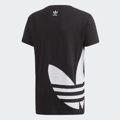 Kinder Originals Big Trefoil-T-Shirt Schwarz