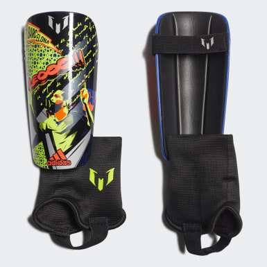 Youth Soccer Blue Messi Match Shin Guards