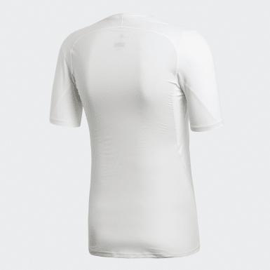 T-shirt Alphaskin Sport Bianco Uomo Rugby