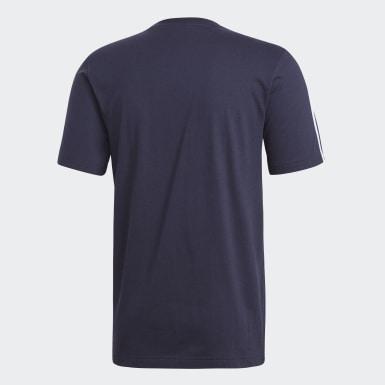 ผู้ชาย เทรนนิง สีน้ำเงิน เสื้อยืด Essentials 3-Stripes