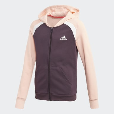 Mädchen Training Hooded Cotton Trainingsanzug Lila
