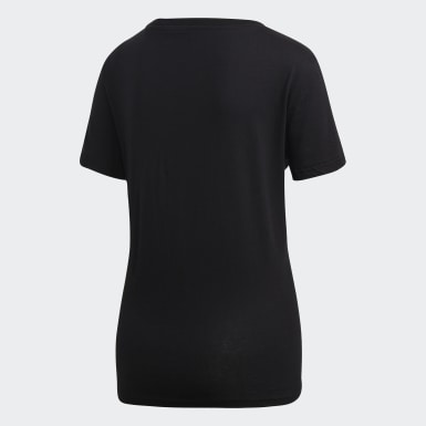 Women Athletics Black Essentials Linear T-Shirt