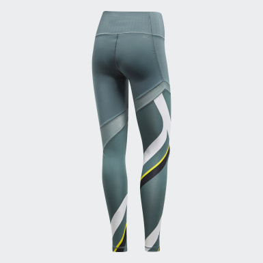 Women Training Green Ultimate Printed Tights