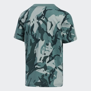 Children Training Green Classics Camo Tee
