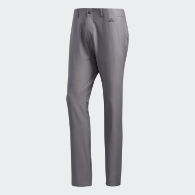 Men Golf Grey Ultimate365 3-Stripes Tapered Pants