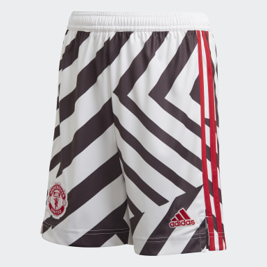 Youth 8-16 Years Football White Manchester United 20/21 Third Shorts