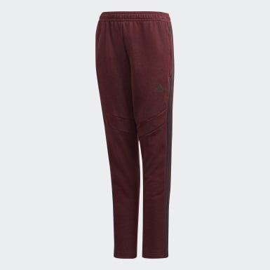 Pantaloni Tiro 19 French Terry Bordeaux Bambini Calcio