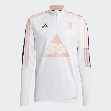 Men Soccer White Juventus Human Race Training Top