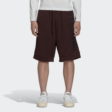 Herr Y-3 Burgundy Y-3 CH2 Graphic Shorts