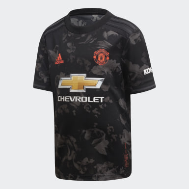 Kids Football Black Manchester United Third Mini Kit
