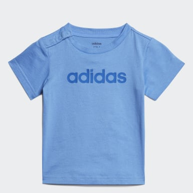 T-shirt Linear Bleu Enfants Athletics