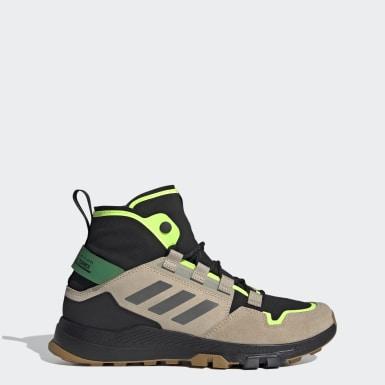 Men's Hiking Black Terrex Hikster Mid Hiking Shoes